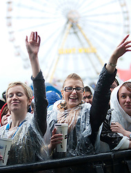 Fans of the indie rock band The Maccabees play on the main stage.Rockness, Sunday 13th June..Pic ©2010 Michael Schofield. All Rights Reserved.