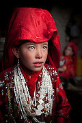 Toorkhan Bubu, 13, an unmarried Afghan Kyrgyz girl..Portraits inside the home of Noor Ali. At the Andemin camp...Trekking through the high altitude plateau of the Little Pamir mountains, where the Afghan Kyrgyz community live all year, on the borders of China, Tajikistan and Pakistan.
