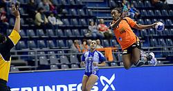 07-12-2013 HANDBAL: WERELD KAMPIOENSCHAP NEDERLAND - DOMINICAANSE REPUBLIEK: BELGRADO <br /> 21st Women s Handball World Championship Belgrade, Nederland wint met 44-21 / Ailly Luciano<br /> ©2013-WWW.FOTOHOOGENDOORN.NL