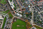 Nederland, Brabant, Oss, 15-11-2010. Centrum van de stad de Oude Watertoren - nu Ulu Moskee..luchtfoto (toeslag), aerial photo (additional fee required).foto/photo Siebe Swart