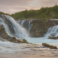 Iceland's waterfall Bruarfoss creates an aura of mystery and enchantment for all those who wander near.