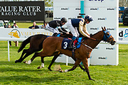 Handytalk ridden by Rob Hornby and trained by Rod Millman in the F45 Bath Group Training, Life Changing Handicap race.  - Ryan Hiscott/JMP - 06/05/2019 - PR - Bath Racecourse- Bath, England - Kids Takeover Day - Monday 6th April 2019
