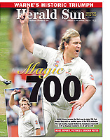 A big moment in cricket history as Shane Warne takes his 700th wicket at the MCG against the Poms.