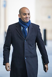 © Licensed to London News Pictures. 11/02/2018. London, UK. Chuka Umuna MP arrives at BBC Broadcasting House. Photo credit: Rob Pinney/LNP