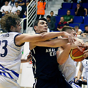 Anadolu Efes's Estaban BATISTA (C) during their Turkey Cup Qualifying basketball first match Anadolu Efes between Turk Telekom at Aliaga Arena in Izmir, Turkey, Sunday, October 9, 2011. Photo by TURKPIX