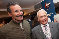 Paul Cayard (USA) and Buzz Aldrin. Buzz Aldrin (born January 20, 1930) is an American mechanical engineer, retired United States Air Force pilot and astronaut who was the Lunar Module pilot on Apollo 11, the first manned lunar landing in history. On July 20, 1969, he was the second person to set foot on the Moon, following mission commander Neil Armstrong. Auckland, New Zealand, March 12th 2010. Louis Vuitton Trophy  Auckland (8-21 March 2010) © Sander van der Borch / Artemis