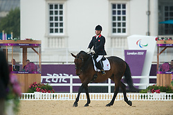 Pearson Lee (GBR) - Gentleman<br /> Team Test - Grade Ib - Dressage <br /> London 2012 Paralympic Games<br /> © Hippo Foto - Jon Stroud