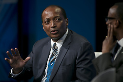 April 28, 2015 - Beverly Hills, California, U.S - Patrice Motsepe, Founder and Executive Chairman, African Rainbow Minerals during the 2015 Milken Institute Global Conference held Tuesday April 28, 2015 at the Beverly Hilton Hotel in Beverly Hills, California. (Credit Image: © Prensa Internacional/ZUMA Wire)