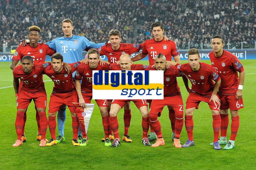 Formazione Bayern Monaco . Team Line Up <br /> Torino 23-02-2016 Juventus Stadium, Football Champions League 2015/2016 Round of 16 Juventus - Bayern Munich / Juventus - Bayern Monaco .  Foto Filippo Alfero / Insidefoto