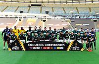RIO DE JANEIRO, BRAZIL - JANUARY 30: Team Players of  Palmeiras pose ,during the final of Copa CONMEBOL Libertadores 2020 between SE Palmeiras and Santos FC at Maracana Stadium on January 30, 2021 in Rio de Janeiro, Brazil. (Photo by MB Media/BPA)