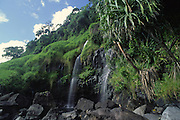 Blue Ginger Falls, Hana Coast, Maui, Hawaii<br />