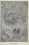 Gigantic Inhabitants from the book ' A journey to the centre of the earth ' by Jules Verne (1828-1905) Published in New York by Scribner, Armstrong & co 1874