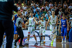 Zoran Dragic and Alen Omic of Slovenia & Marco Belinelli of Italy during friendly basketball match between National teams of Slovenia and Italy at day 3 of Adecco Cup 2015, on August 23 in Koper, Slovenia. Photo by Grega Valancic / Sportida