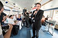 04 JUN 2019, BERLIN/GERMANY:<br /> Rolf Muetzenich, SPD, kom. Fraktionsvorsitzender der SPD-Bundestagsfraktion, vor Beginn der Spargelfahrt des Seeheimer Kreises der SPD, Anleger Wannsee<br /> IMAGE: 20190604-01-177<br /> KEYWORDS: Rolf Mützenich