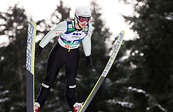 Lea Lemare of France during Normal Hill Individual Competition at FIS World Cup Ski jumping Ladies Ljubno 2012, on February 11, 2012 in Ljubno ob Savinji, Slovenia. (Photo By Vid Ponikvar / Sportida.com)