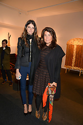 Left to right, JEISA CHIMINAZZO and DANIELLA HELAYEL at the PAD Art and Design Fair 2013 Collectors Preview in Berkeley Square, London on 14th October 2013.