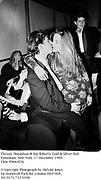 Chrissie Donaldson & Kip Roberts. Gold & Silver Ball. Palladium. New York. 17 December 1989. Film. 89663f26<br />© Copyright Photograph by Dafydd Jones. 66 Stockwell Park Rd. London SW9 0DA. Tel 0171 733 0108