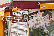 Beaujeu, Mont de Brouilly... Beaujolais, Burgundy, France