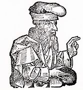 Plato (c428-348 BC) Ancient Greek philosopher. Woodcut from 'Liber chronicarum mundi' (Nuremberg Chronicle) by Hartmann Schedel (Nuremberg), 1493.