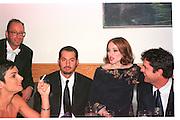 HERB RITTS; CHRISTOPHER CICONNE; MADONNA; RUPERT EVERETT.  Vanity Fair Oscar night party. Mortons. Los Angeles. 28 March 1999. Film 99185f12<br /> © Copyright Photograph by Dafydd Jones 66 Stockwell Park Rd. London SW9 0DA<br /> Tel 0171 733 0108<br /> www.dafjones.com