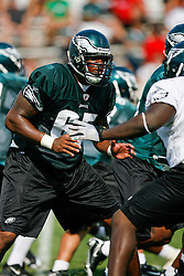 Philadelphia Eagles defensive tackle King Dunlap #65 during the Philadelphia Eagles NFL training camp in Bethlehem, Pennsylvania at Lehigh University on Saturday August 1st 2009. (Photo by Brian Garfinkel)