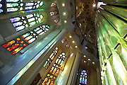 interior behind altar Sagrada Familia Barcelona Spain