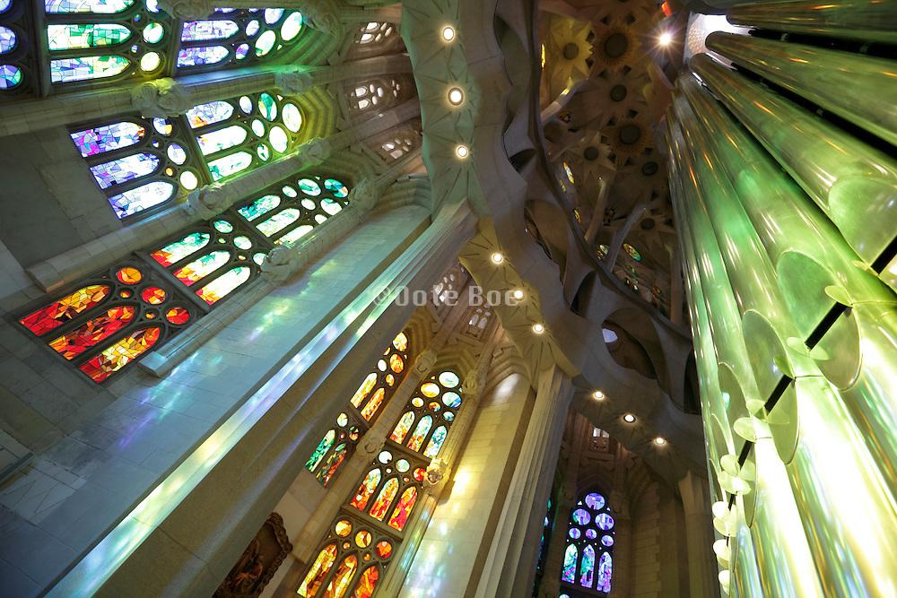 interior behind altar Sagrada Familia Barcelona Spain