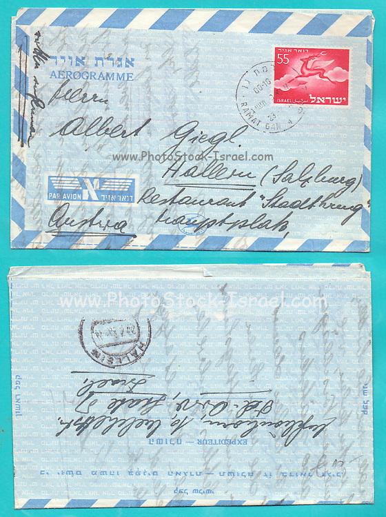 Used Israeli Aerogramme from 1953