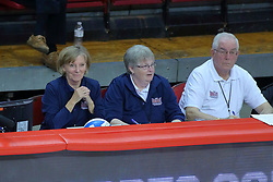 23 November 2017:  Bench Officials during a college women's volleyball match between the Drake Bulldogs and the Indiana State Sycamores in the Missouri Valley Conference Tournament at Redbird Arena in Normal IL (Photo by Alan Look)
