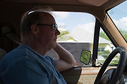 WEST, TEXAS - APRIL 14:  Mayor Tommy Muska drives through West, Texas on April 18, 2017. (Photo by Cooper Neill for The Washington Post)
