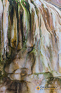 Travertine Patterns at Cupid Spring in Yellowstone National Park, Wyoming, USA