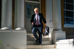 © Licensed to London News Pictures. 06/06/2019. London, UK. Boris Johnson MP leaves a property in south London. The Conservative MP is campaigning to become the new British Prime Minister, as current British Prime Minister Theresa May is due to stand down tomorrow, Friday 7 June. Photo credit : Tom Nicholson/LNP