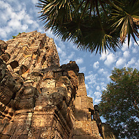 Wat Banan is located in Battambang, at the top of a hill which can be reached by a  stairway.
