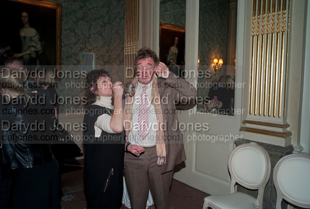 JANE ORMSBY-GORE;CHRISTOPHER SIMON SYKES, The Dowager Duchess od Devonshire and Catherine Ostler editor of the Tatler host a party to celebrate Penguin's reissue of Nancy Mitford's ' Wigs on the Green.'  The French Salon. Claridge's. London. 10 March 2010.