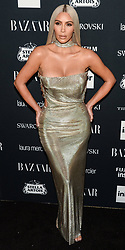 Kim Kardashian wearing a Versace gown attends Harper's BAZAAR Celebration of 'ICONS By Carine Roitfeld' at The Plaza Hotel presented by Infor, Laura Mercier, Stella Artois, FUJIFILM and SWAROVSKI on September 8, 2017 in New York City. 08 Sep 2017 Pictured: Kim Kardashian. Photo credit: MEGA TheMegaAgency.com +1 888 505 6342