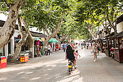 Tourist shopping Dongbei Street in Suzhou, China.