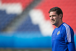 PARIS, FRANCE - Friday, June 24, 2016: Northern Ireland's Kyle Lafferty during a training session at the Parc des Princes ahead of the Round of 16 UEFA Euro 2016 Championship match against Wales. (Pic by Paul Greenwood/Propaganda)