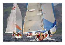 Yachting- The first days inshore racing  of the Bell Lawrie Scottish series 2002 at Tarbert Loch Fyne. Near perfect conditions saw over two hundred yachts compete. <br />Hops  Davidson 36 GBR3742 and Trillachan ( Sigma 38 ) GBR8272 among the Class 3 fleet downwind.<br /><br />Pics Marc Turner / PFM