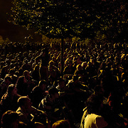 Torino Traffic Festival, July 11th, 2007. People attending Lou Reed concert..