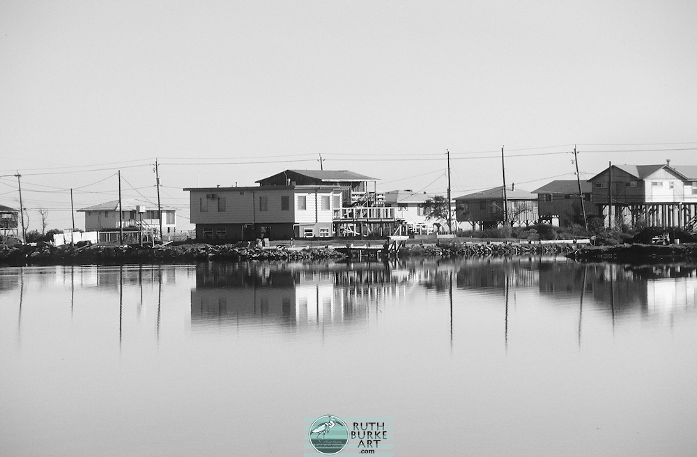 """Homes Built On Stilts Along Todvill Road Seabrook TX on page 100 of the """"Around Clear Lake Book"""""""
