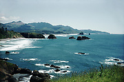 CS00843-04.  Cannon Beach from Ecola State Park, Oregon, 1950s.