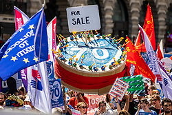 © Licensed to London News Pictures. 30/06/2018. London, UK. Protestors march to Whitehall in support of the National Health Service on the 70th anniversary of its founding. Thousands are taking part and will here speeches by Jeremy Corbyn and others in Whitehall. Photo credit: Rob Pinney/LNP