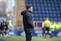 Partick Thistle's manager Gary Caldwell after Falkirk's Ian McShane scored. Falkirk 1 v 1 Partick Thistle, Scottish Championship game played 16/3/2019 at The Falkirk Stadium.