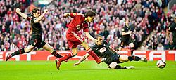 29.04.2010, Anfield, Liverpool, ENG, UEFA EL, Liverpool FC vs Atletico Madrid im Bild Schuss von Liverpool's Yossi Benayoun, EXPA Pictures © 2010, PhotoCredit: EXPA/ Propaganda/ D. Rawcliffe