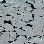 Ice breaking apart , Late April, Beaufort Sea. Kaktovik, Alaska.