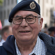 Northern Ireland Veterans Movement and the Veterans National Protest Day protest to stop the 2016 prosecution from doing! assembly at Trafalgar square, on 2021-08-28, London, UK.