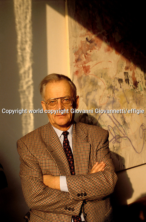 Alain Touraine<br />world copyright Giovanni Giovannetti/effigie / Writer Pictures<br /> <br /> NO ITALY, NO AGENCY SALES / Writer Pictures<br /> <br /> NO ITALY, NO AGENCY SALES