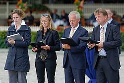 Jury Nationale merrie keuring<br /> Van Deurzen Ine, Hamoen Arie, Henstra Bart<br /> KWPN Paardendagen Ermelo 2010<br /> © Dirk Caremans