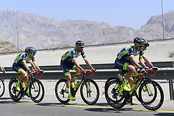February 15, 2018 - Muscat, Oman - ANTONINI Simone of Wanty - Groupe Gobert, KREDER Wesley of Wanty - Groupe Gobert during stage 3 of the 9th edition of the 2018 Tour of Oman cycling race, a stage of 179.5 kms between German University of Technology and Wadi Dayqah Dam on February 15, 2018 in Muscat, Sultanate Of Oman, 15/02/2018 (Credit Image: © Panoramic via ZUMA Press)
