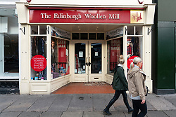 Edinburgh, Scotland, UK. 10 October 2020. Around 21,500 jobs at risk at the business which includes the Edinburgh Woollen Mill shops. Administrators are bring appointed following a slump in sales due in part to the coronavirus pandemic. Iain Masterton/Alamy Live News